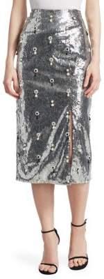 Erdem Tahira Embellished Sequin Skirt