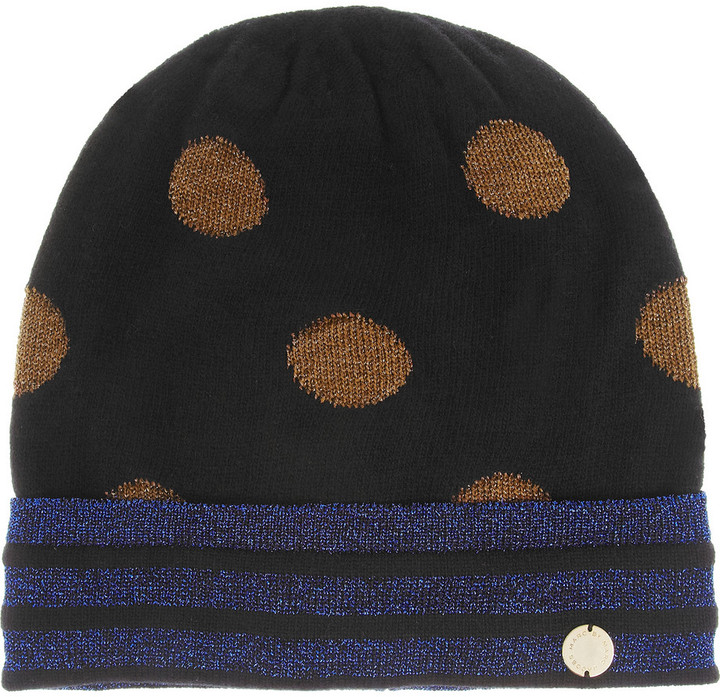Marc by Marc Jacobs Clara metallic-flecked knitted beanie