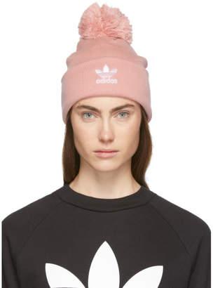 adidas Pink Bobble Beanie