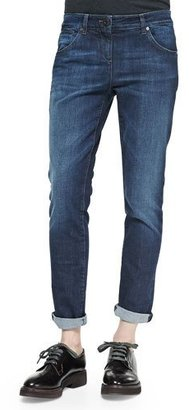 Brunello Cucinelli Classic 5-Pocket Denim Jeans $740 thestylecure.com