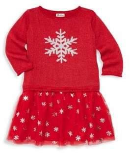 Hatley Little Girl's& Girl's Glitter Snowflake Dress