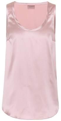 Brunello Cucinelli Silk satin sleeveless top