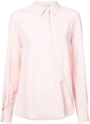 Altuzarra curved placket shirt