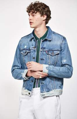 Levi's Baez Bleach Denim Trucker Jacket
