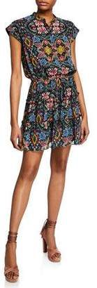 Rebecca Minkoff Ollie Floral-Print Cap-Sleeve Dress