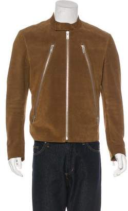 Maison Margiela 5-Zip Collarless Suede Biker Jacket