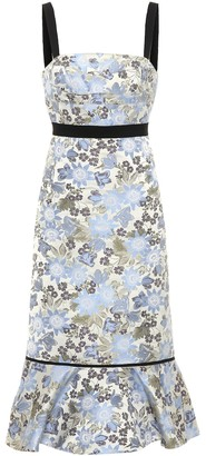 Erdem Eunice sleeveless jacquard dress