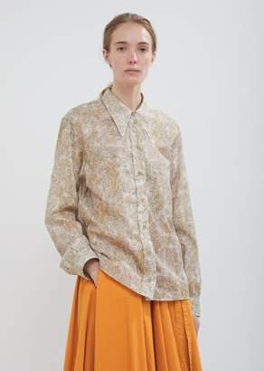 Lemaire Cotton Print Button Front Shirt