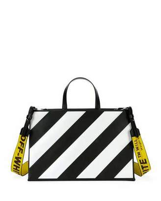 Off-white Medium Diagonal-Stripe Box Tote Bag yRZq6