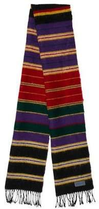 Kenzo Wool Striped Scarf