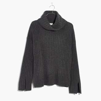 Madewell Cashmere Slit-Sleeve Turtleneck Sweater