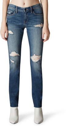 Blank NYC Mid-Rise Ripped Faded Skinny Jeans