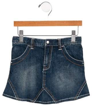 Giorgio Armani Baby Girls' Flared Denim Skirt w/ Tags