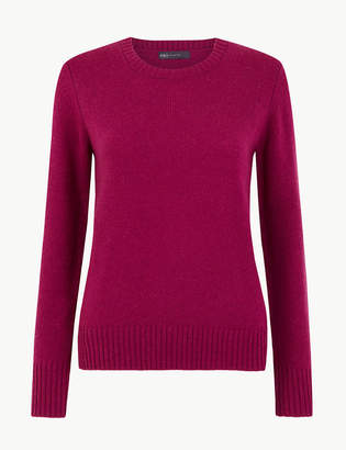 Marks and Spencer Wool Rich Round Neck Jumper