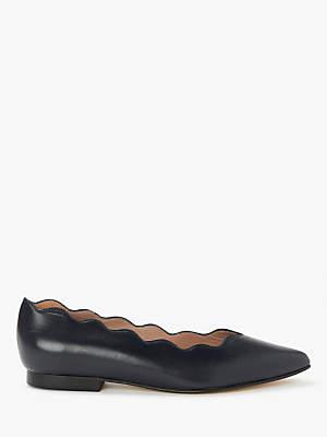 c69b1a7dd3f6 John Lewis   Partners Hattie Scallop Flat Heel Court Shoes