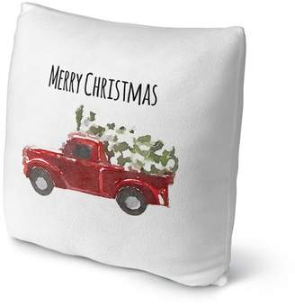 Kavka Christmas Truck Throw Pillow