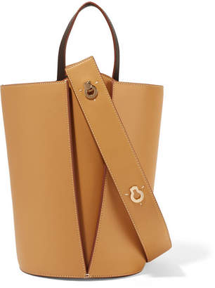 Lente Danse Lorna Mini Leather Tote - Saffron