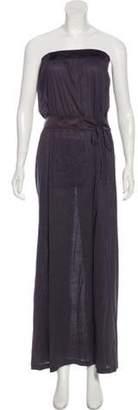 Eres Strapless Maxi Dress Grey Strapless Maxi Dress