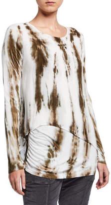 XCVI Castillo Asymmetric Layered Long-Sleeve Top