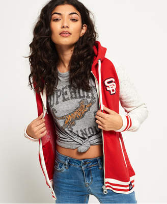 Superdry Collage Patch Zip Hoodie