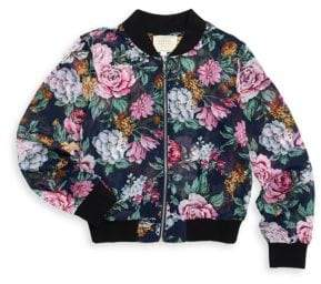 Hannah Banana Girl's Printed Bomber Jacket