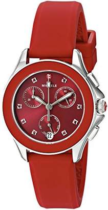 Michele Women's Quartz Stainless Steel and Silicone Casual Watch