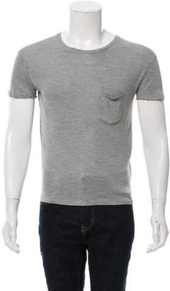 Saint Laurent Silk Pocket T-Shirt