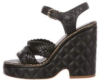 Chanel 2015 Quilted Sandals