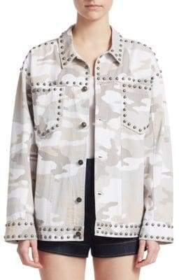 Cinq à Sept Studded Camouflage Jacket