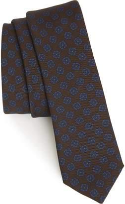 Eleventy Floral Wool & Silk Tie