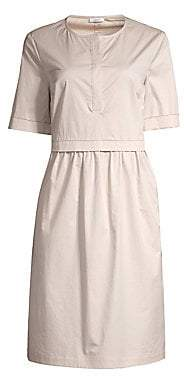 Peserico Women's Short Sleeve Cotton Dress