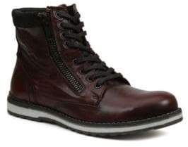 GBX Dern Leather Lace-Up and Zip Boots