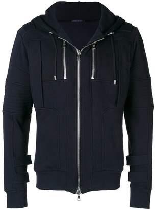 Balmain zipped up hoodie