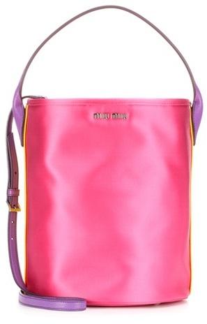 Miu MiuMiu Miu Satin bucket bag