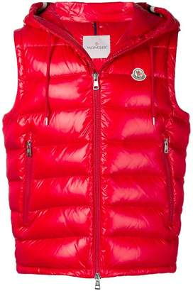 Moncler hooded padded vest