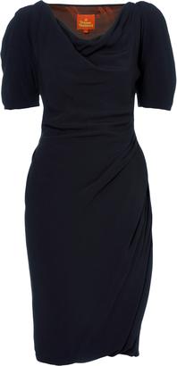 Vivienne Westwood Midi Amber Dress Midnight Blue Size 40