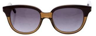 Saint Laurent Gradient Colorblock Sunglasses