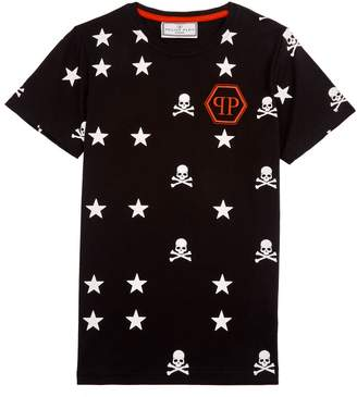 Philipp Plein Stars Skull Logo T-Shirt