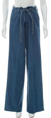 J Brand Wide-Leg distressed Jeans
