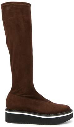Clergerie Boy platform knee-high boots