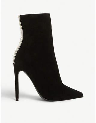 Steve Madden Wagu rhinestone-embellished suede boots