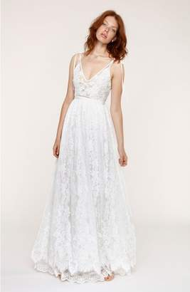 Heartloom Charlie Tie Shoulder Lace Gown
