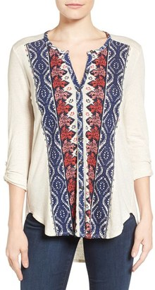 Women's Lucky Brand Placed Print Top $49.50 thestylecure.com
