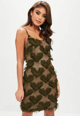 Missguided Fluffy Star and Heart Detail Cami Dress