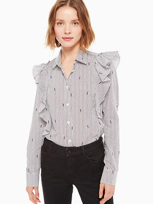 Kate Spade Mini penguin ruffle shirt