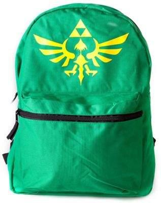 Bioworld Nintendo Legend Of Zelda Reversible Backpack, Green/black - Accessories
