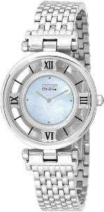 Citizen Eco-drive Stiletto Mother of Pearl Stainless-steel Women's Watch