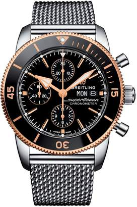 Breitling Stainless Steel Superocean Héritage 2 Chronograph Watch 44mm