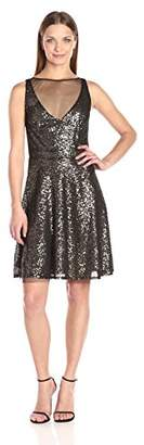 Betsey Johnson Women's Short Cocktail Sequins Dress