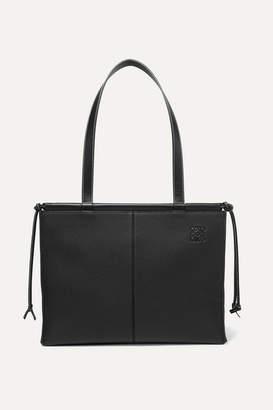 Loewe Cushion Medium Textured-leather Tote - Black
